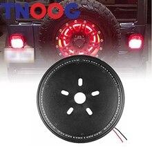 LED запасное колесо свет 3rd Круглый колеса хвост лампа автомобиль-Стайлинг красный тормозной сигнал для Jeep Wrangler JK 2007 -2016
