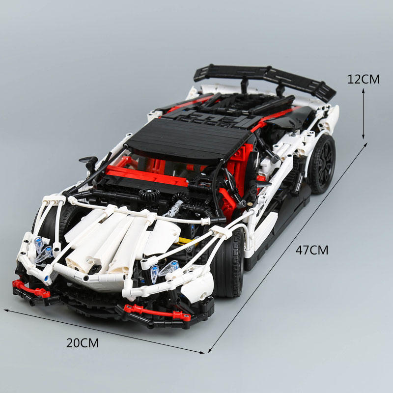 DHL Technic 23006 The MOC 3918 The Hatchback Type Set compatible with Motor car Building Blocks