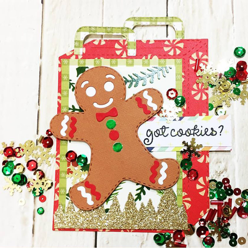 Gift Bags Frame Metal Cutting Dies for DIY Scrapbooking Embossing Decorative Crafts Supplies Paper Cards Making New 2018 Diecuts in Cutting Dies from Home Garden