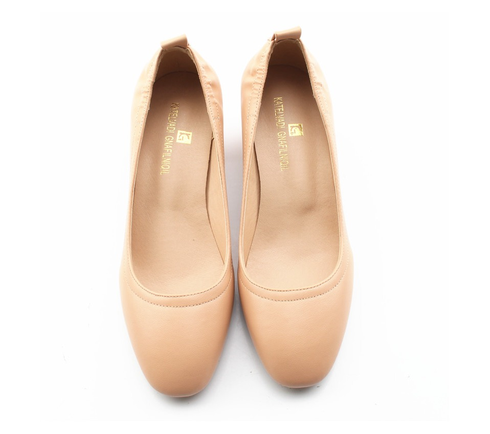 Shoes Women Genuine Leather Fashion Office and Career Rounded Toe 2-inch Block Heel Fashion Office Lady Pumps Size 34-41, K-307 41