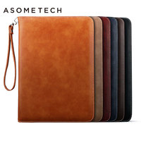For Ipad Mini 1 2 3 4 Briefcase Retro Hand Belt Holder Leather Stand Case For