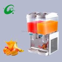 Cold drink machine cooling two barrels blender 17L*2 volume cold water drink dispenser