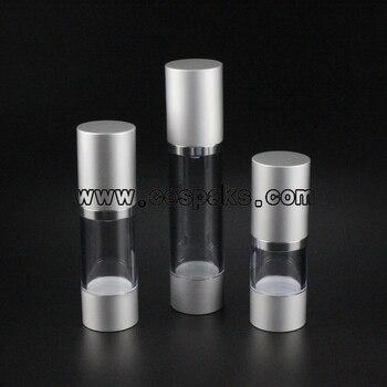 100pcs 50ml aluminium pump bottles , 50ml aluminium cosmetic packaging supplies , 50ml aluminum cosmetic pump bottle for cream