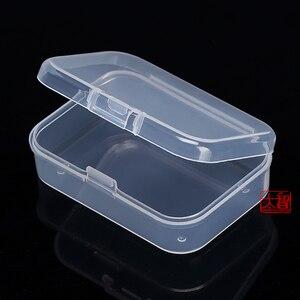 Image 2 - Darmowa wysyłka przezroczyste plastikowe małe kwadratowe pudełka, opakowanie, z pokrywką na pudełko z biżuterią akcesoria wykończenie box