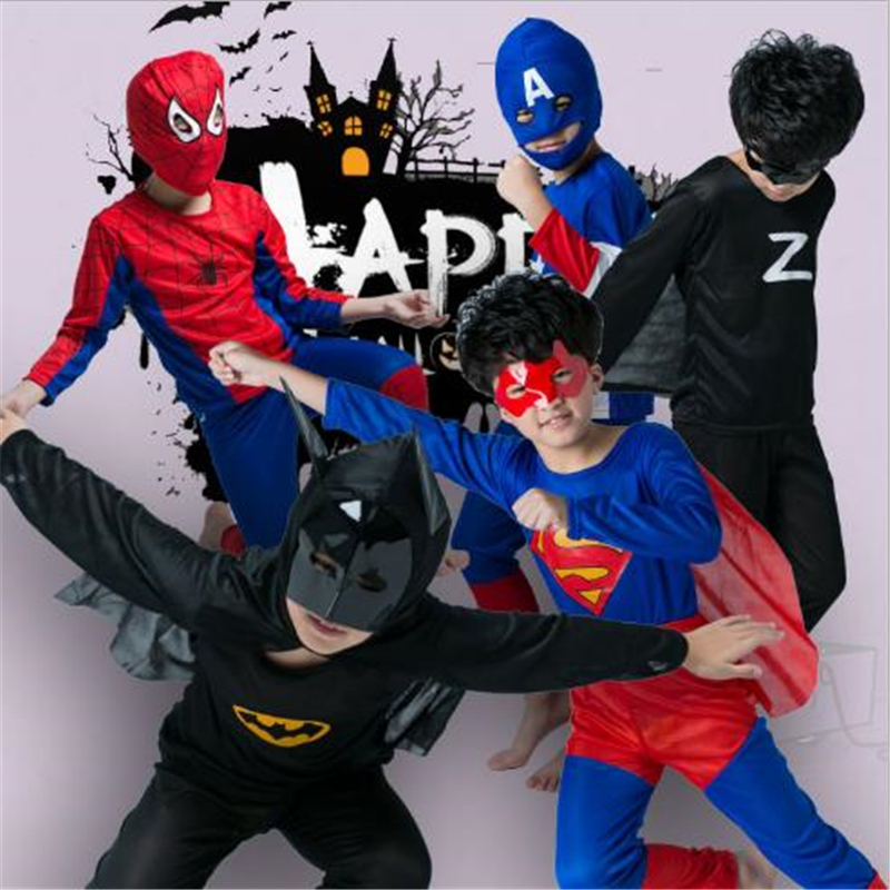 Classic Cosplay Halloween Children's Clothing Spiderman Superman Batman Zorro Clothing Wholesale Retail Children Gifts