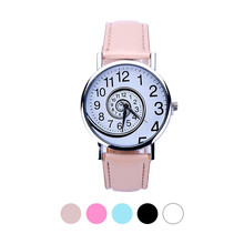 Top Brand Relogio Feminino Clock Watches Women Swirl PU Leather Analog Quartz Wrist Watch Casual Wristwatches Masculino