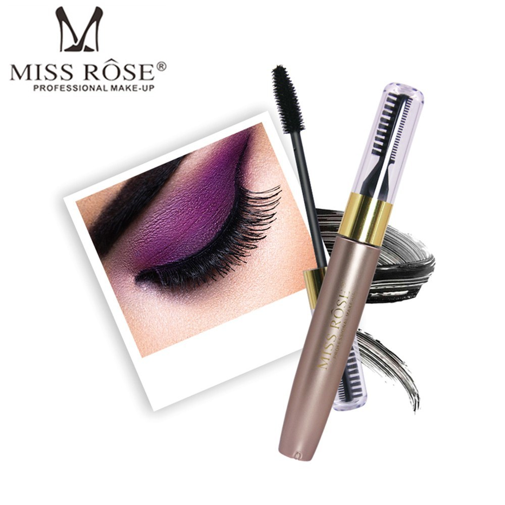 MISS ROSE Double Head Lash Mascara Waterproof Black 3D Rimel Mascara Lengthening Curling Fasle Eyelash Extension Lashes Cosmetic