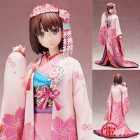 NEW hot 26cm Saenai Heroine no Sodatekata Katou Megumi kimono Action figure toys collection doll Christmas gift with box
