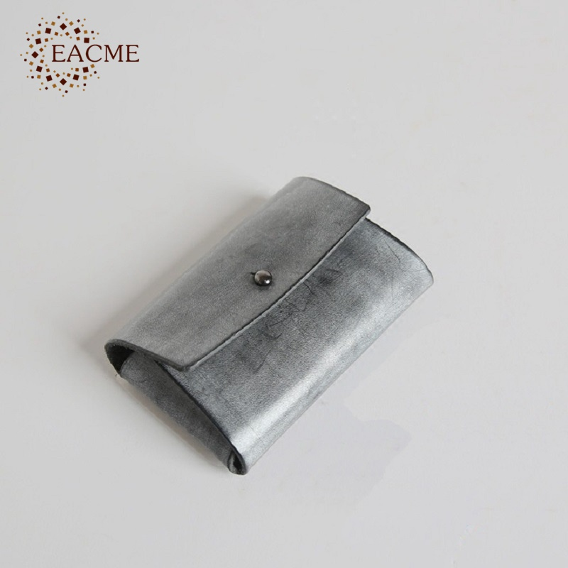 EACME Handmade Fog Wax Leather Business Card Holder Credit Card Case ...