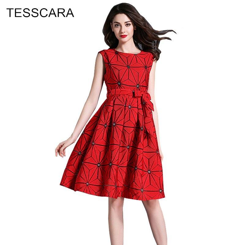 dcee42c82903 Femme Senza Estate Ufficio Robe Delle Tesscara Vestiti Donne Abiti Della  red Di Elegante Vestito Retro ...