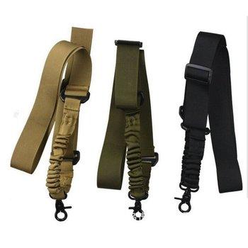 Nylon fegyverheveder állítható taktikai egypontos bungee puska övek pisztoly airsoft heveder vadászhadsereg zöld és fekete pisztoly