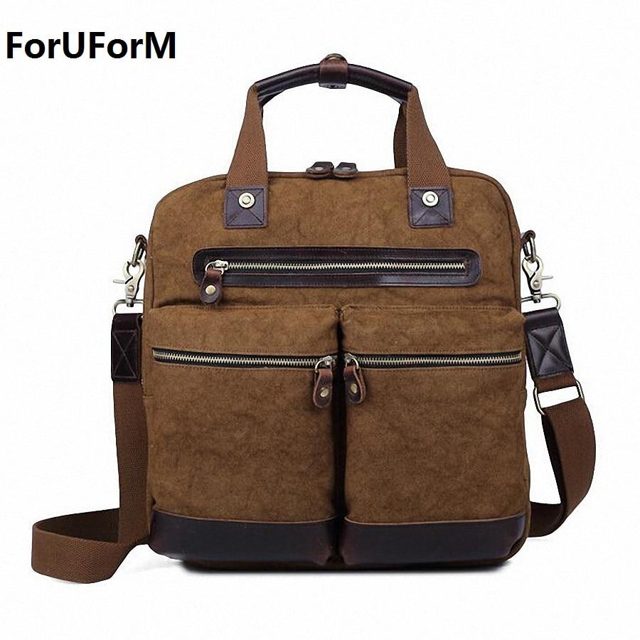 NEW Men Bag Multifunction Men Canvas 14inch Laptop Bag Casual Travel Bolsa Masculina Men's Crossbody Bag Messenger Bags LI-1630 casual canvas satchel men sling bag