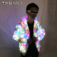 LED Luminous Couple Suit, Unisex LED Luminous Jacket, Christmas, Halloween party, Cospaly Costume for Electronic Music Festival