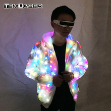 LED Luminous Couple Suit, Unisex LED Luminous Jacket, Navidad, fiesta de Halloween, traje cospaly para festival de música electrónica