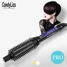Pro Ceramic Hair Curler Electric Comb Hair brush Hair Curlers Roller Styling Tools Hair Curling Iron Multifunction 32mm ceramic anion hair curler comb hairbrush lcd curling straighting straightener brush roller iron fashion styling tools s34