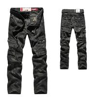 2018 Mens Autumn Cargo Pants Men Camouflage Military Pants Casual Loose Comfortable Pocket Trousers Camo Joggers Cotton Flexible