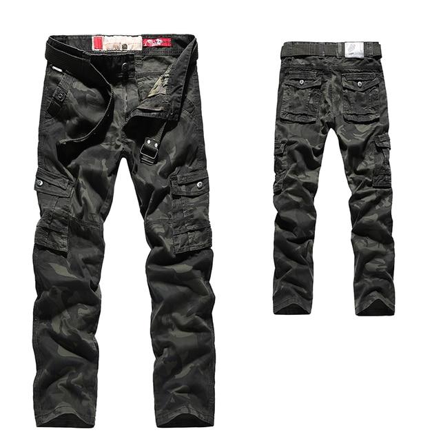 Mens Autumn Cargo Pants Men Camouflage Military Pants Casual Loose Comfortable MultiPocket Trousers Camo Joggers Cotton Flexible