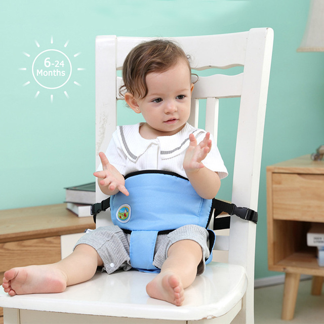 US $2 45 15% OFF Newborn Baby Chair Safety Waist Booster Belt Infant Lunch  Dining Seat Harness Protector Toddler Walking Learning Leash Baby Care-in