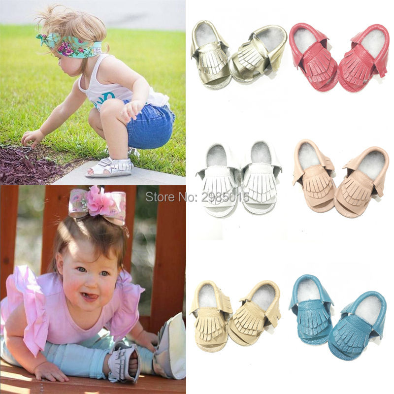 Summer Fashion Tassel Baby Shoes Soft Sole Moccasin Newborn Babies Genuine Leather Slip-on First Walker