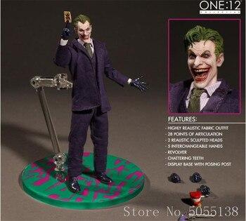 Mezco18cm NECA Batman The Dark Knight Joker Fiber Cloth PVC Action Figure model toys for kids gifts
