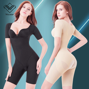 Image 2 - Wechery Shaper Slimmingชุดชั้นในหญิงหลังคลอดBodysuitเปิดMidiแขนSpandex Shapewearเอวรัดตัว