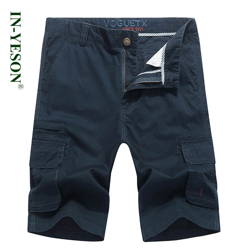2018 New arrival Summer cargo shorts men cotton straight knee-length multi-pockets military style men shorts army plus size 44