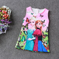Nueva Elsa Anna Vestido de Las Muchachas Linda Princesa de Los Niños ropa Cosplay Partido Vestidos del cabrito del Bebé Niños Vestidos de Niño Vestido De Niña