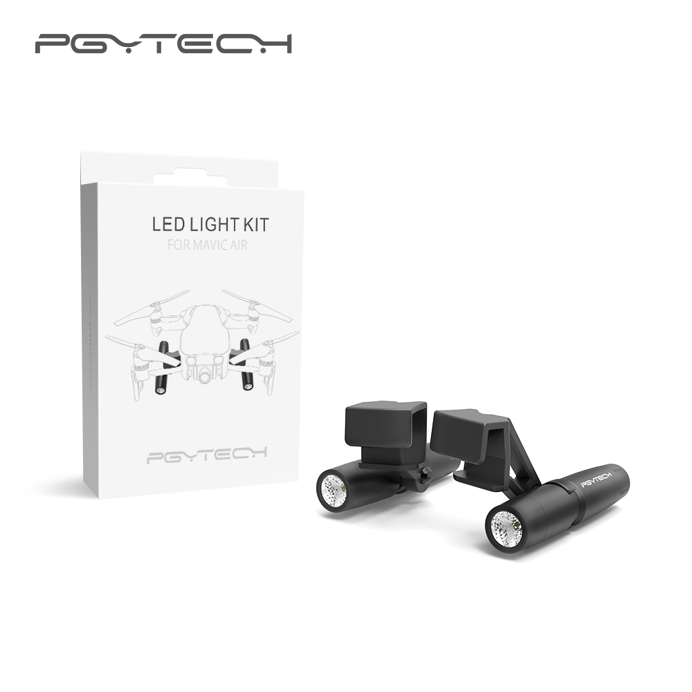 US $39 9 |PGYTECH Mavic Air Led lamp light Without battery fill in light  searching guide Light in night for DJI mavic air accessories-in Drone