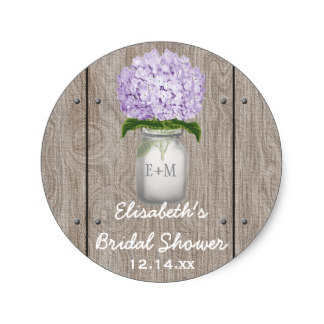 3 8cm monogram mason jar purple hydrangea bridal shower classic