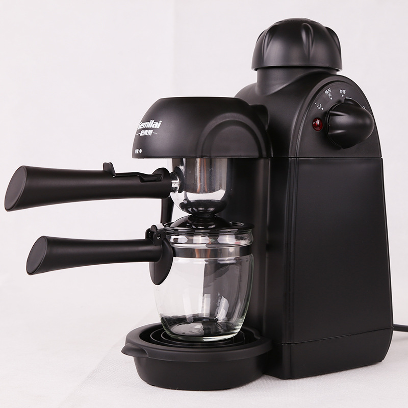 WUXYE CRM2008 Coffee Machine Espresso Coffee Maker 4 Cups Semi-Automatic Pump Pressure Espresso Cappuccino Machine Cafetera italy espresso coffee machine semi automatic maker cup warming plate kitchen