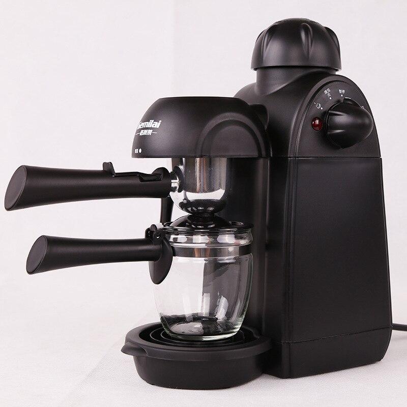 WUXYE CRM2008 Coffee Machine Espresso Coffee Maker 4 Cups Semi Automatic Pump Pressure Espresso Cappuccino Machine Cafetera