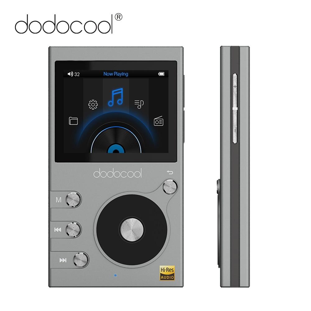 """Dodocool 8GB lecteur MP3 haute résolution Audio musique lecteur HIFI avec Radio FM enregistreur vocal 2 """"écran LCD prise en charge carte TF-in Lecteur MP3 from Electronique    1"""