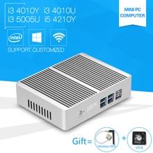 Mini PC i3 5005U Windows10 Core 4010Y 4010U Dual core Mini Sever Computer with i5 4210Y Small Desktop Hdmi Wifi Usb 3.0