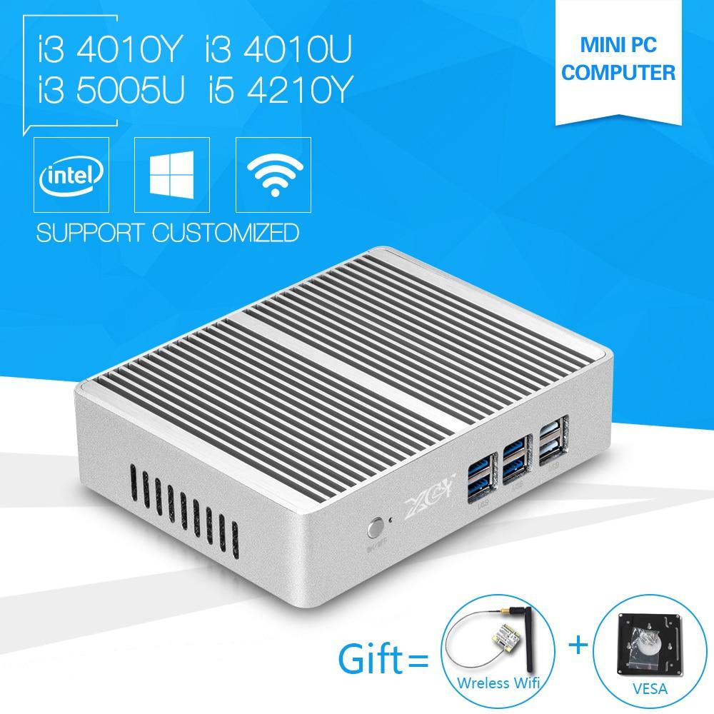 Mini PC i3 5005U Windows10 Core 4010Y 4010U Dual core Mini Sever Computer with i5 4210Y