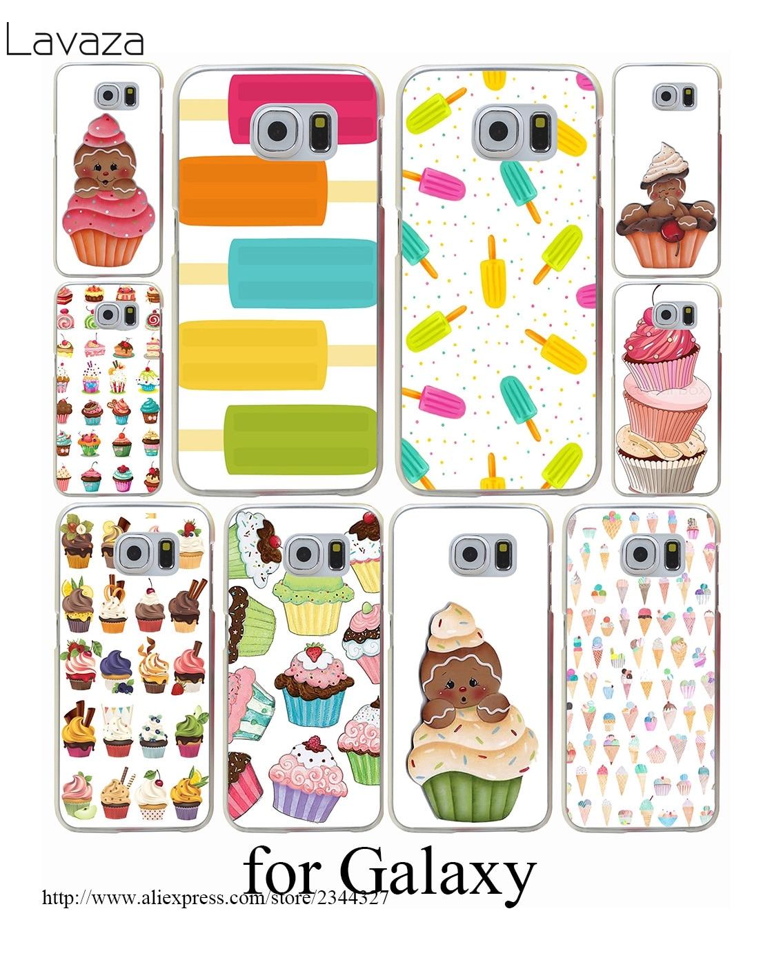 Sweet ice cream Hard Transparent Case Cover for Galaxy S3 S4 S5 & Mini S6 S7 Edge Plus Case Cover