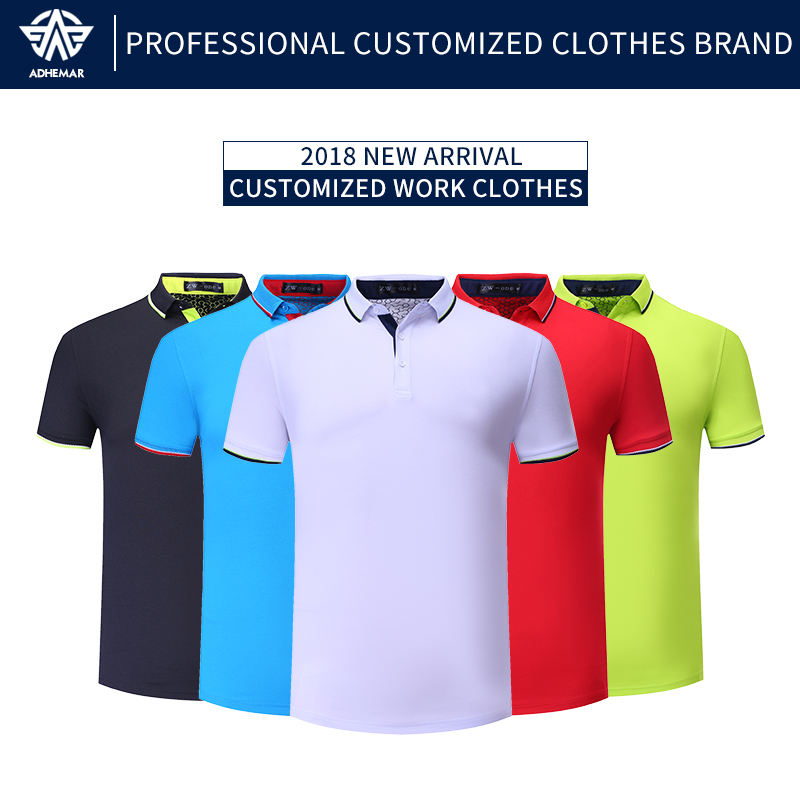 1da14fbc2 Adhemar quick-drying golf shirts for men/women fashionable T-shirt short-