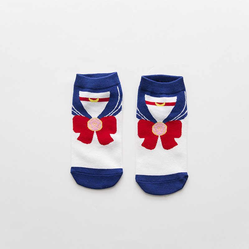 2017 New Cute Boat Cotton Women's Socks 5 Colors Cartoon Sailor Moon Ship Female Warm Sweet Lovely for Girl