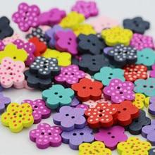 10 шт. 15 мм звезды сердце цветы декоративные деревянные пуговицы для шитья шов Скрапбукинг аксессуары деревянная кнопка для одежды 51102