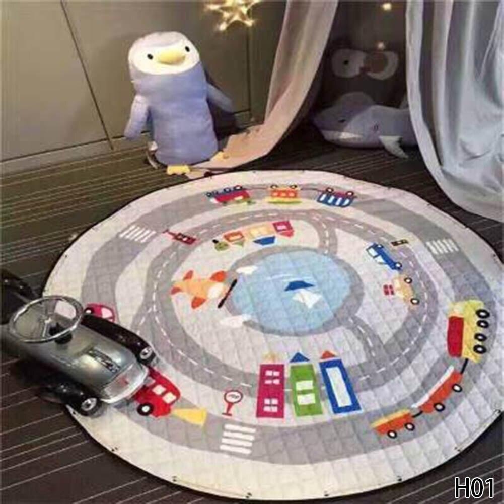 Baby Crawling Pad Cartton Fast Housing Bag Child Play Game Mat Baby Gym Mat Children Developing Carpet Toys Round