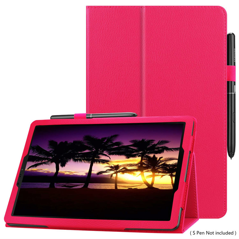 Case Cover For Samsung Galaxy Tab S4 10.5 2018 Model SM-T830/T835/T837,Multi-Angle Stand Flip PU Leather Cover S Pen Holder Case