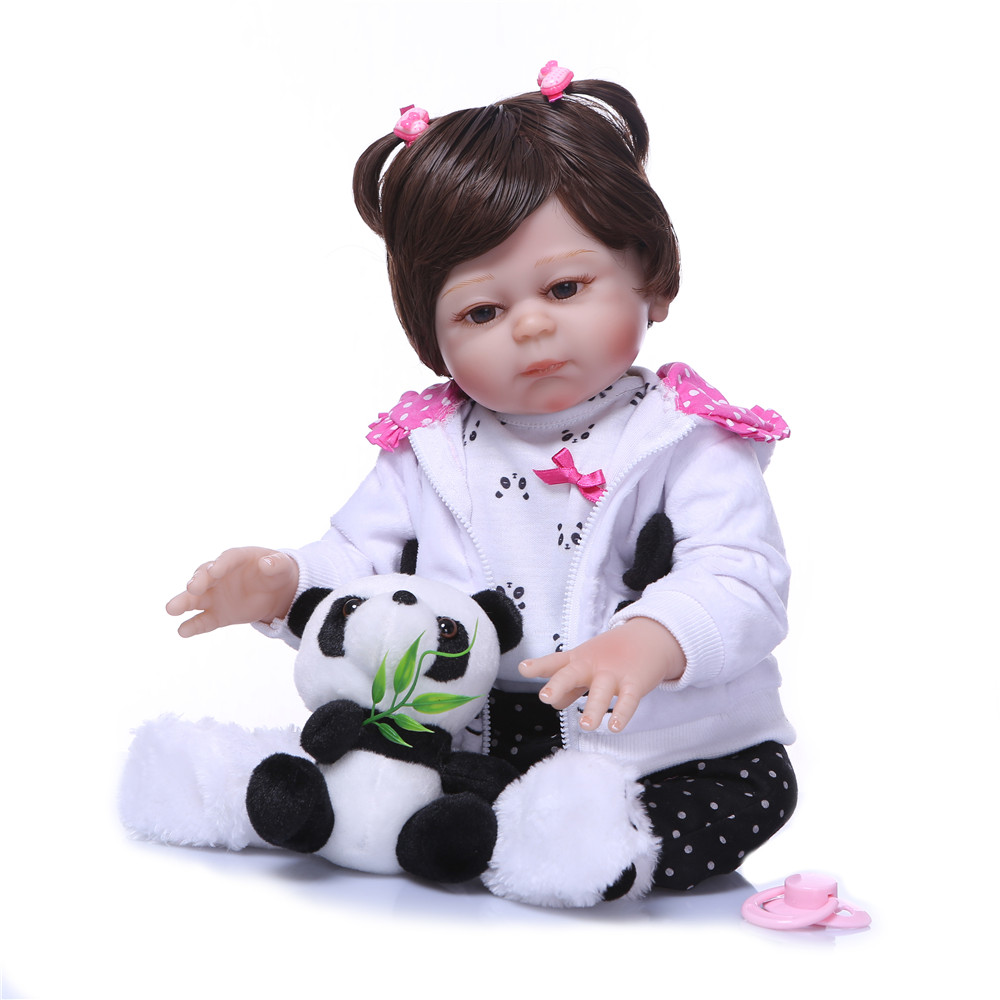 Real NPK reborn dolls 50cm full silicone reborn baby doll lifelike real baby girl newborn doll bebes reborn menina child giftReal NPK reborn dolls 50cm full silicone reborn baby doll lifelike real baby girl newborn doll bebes reborn menina child gift