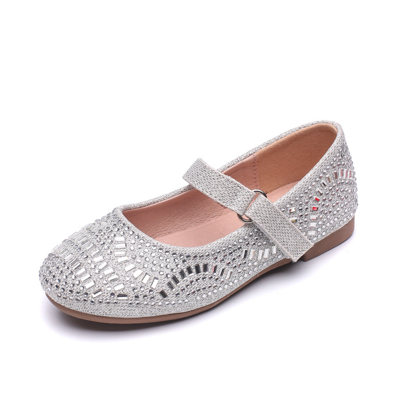 Kids Shoes for Girl Princess Toddler Infant Kids Baby Girls Silvery Black Bling Sequins Single Princess Casual Shoes Infantil image