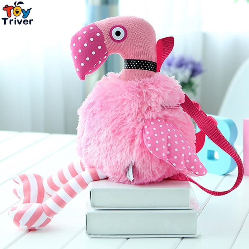 48cm Simulation Pink Flamingos Plush Flamingo Toy Bird Knitting Dolls Baby Kids Girl Student Kawaii Birthday Gift Drop Shipping hamtoys kawaii 18 cm simulation husky dog plush toy gift for kids baby toy birthday present stuffed plush toy children boy girl