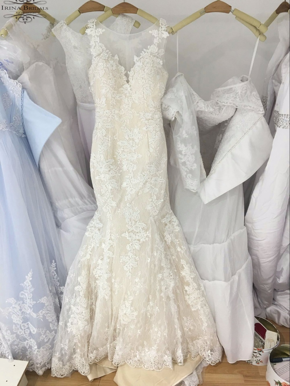 Vestido de noiva 2017 Flügelärmeln Zwei Ton Spitze Applique ...