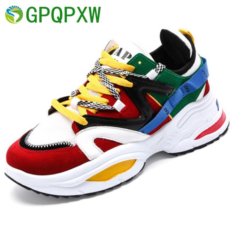 Height Increasing 6 CM Women Running ShoesUnisex Sneakers Female Outdoor Sport Shoes Athletic High Heel Cushioning Footwear
