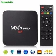 Android Caixa Smart TV 6.0 Max 1 GB RAM + 8 GB ROM MXQ-PRO Inteligente Set-top caixa de TV Amlogic S905X Quad core Bits WiFi 4 K HD Media Player