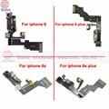 Para apple iphone 6 6 plus light sensor de proximidad flex cable cámara frontal len asamblea mic para iphone 6 s 6 s plus