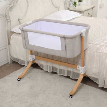 European style Baby bed multifunctional newborn solid wood bedside crib portable Splicable - DISCOUNT ITEM  42% OFF All Category