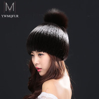 Winter Hats For Women Fur Hat 2016 Hot Sale Mutilcolor Rex Rabbir Fur Warmth Fashion Women