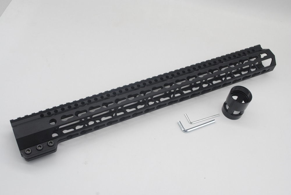 TriRock 17'' inch Ultra Length Black Keymod Clamping Style Handguard Rail Free Floating Rail Mount System Free Shipping